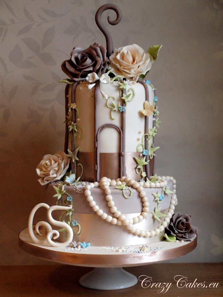 Mums 65th Birthday Bird Cage Cake