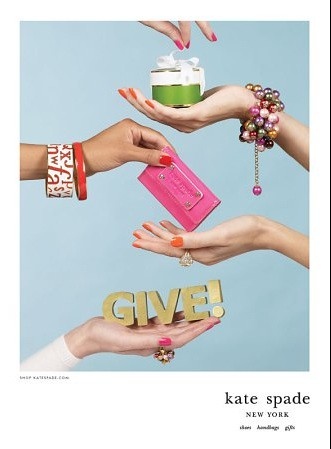 kate spade holiday ad by kristin kerr