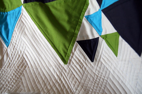 triangle quilt – progress detail | by twittering bird