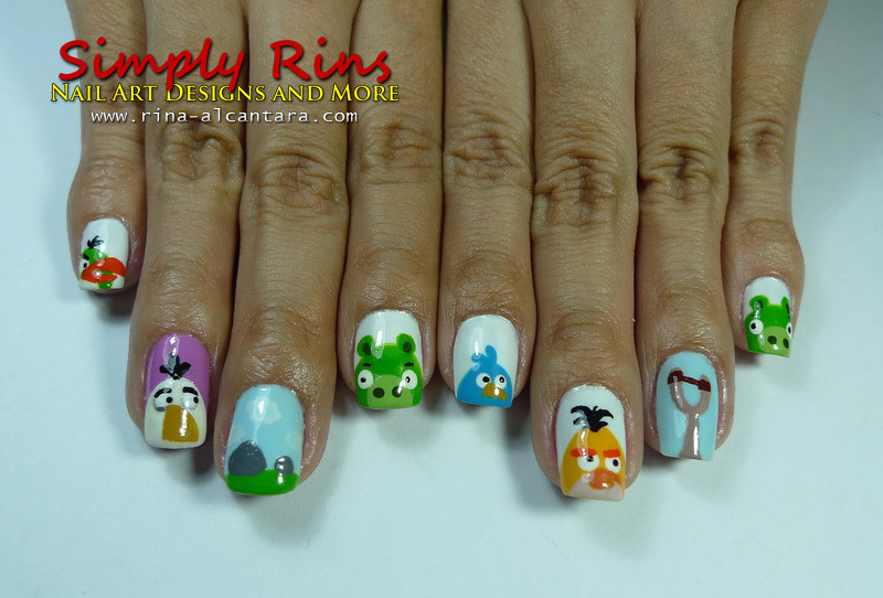 Nail Art Angry Birds 01 | Rina Alcantara | Flickr