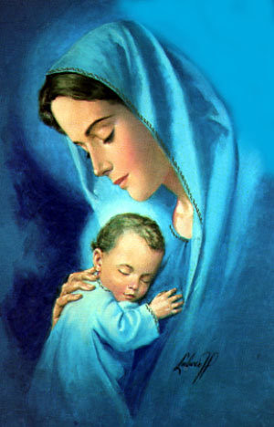 blessed virgin mother mary and child jesus marlon santos flickr