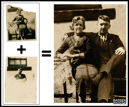 Old photographs - restoration, merging, and retouching | by pbassek