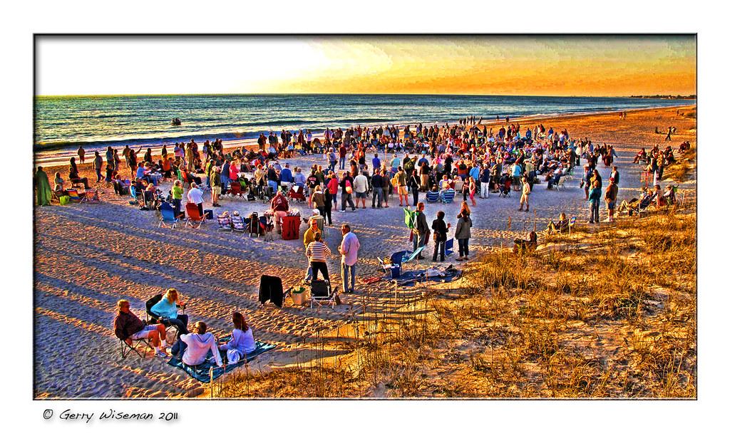 nokomis beach drum circle