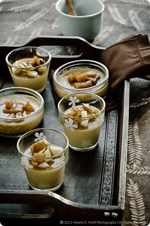 Brunost Panna Cotta with Sticky Toffee Pears | by MeetaK