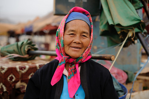 Lao Woman in Pink Scarf | by goingslowly