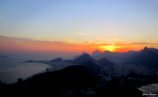 "As cores do Rio Sunset ""Explore"" 
