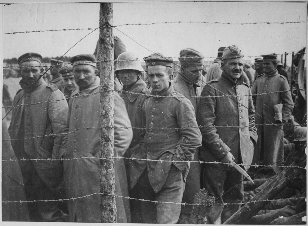 German prisoners in a French prison camp. French Pictorial… | Flickr