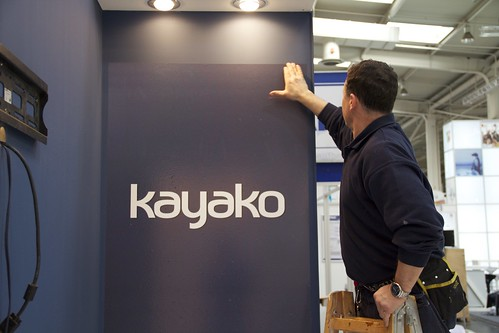 Building the booth | by kayako.com