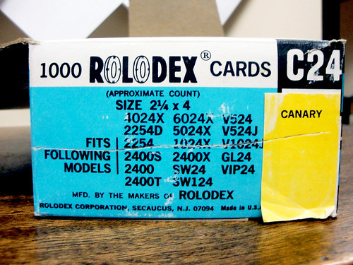 1000 Rolodex Cards | by prentz