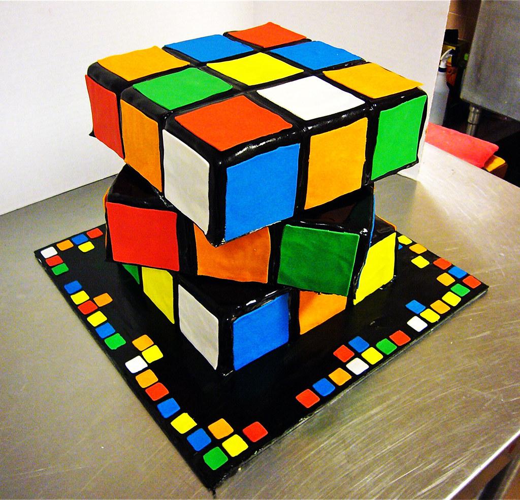 rubiks cube cake da bombe cake company flickr