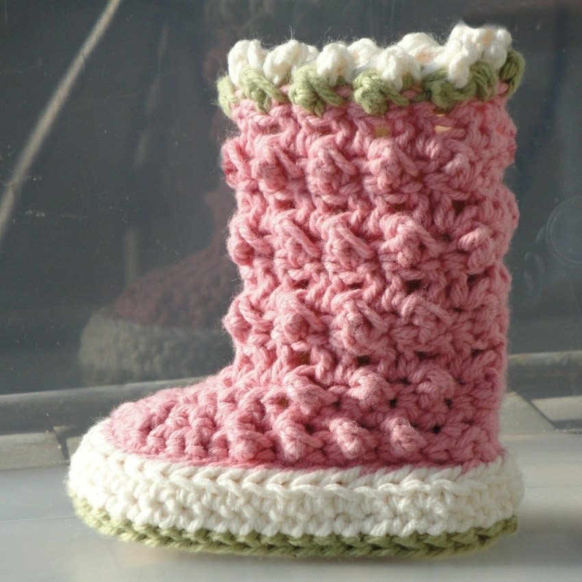 Raindrop Boots Crochet Pattern For Baby All Pictures From Flickr