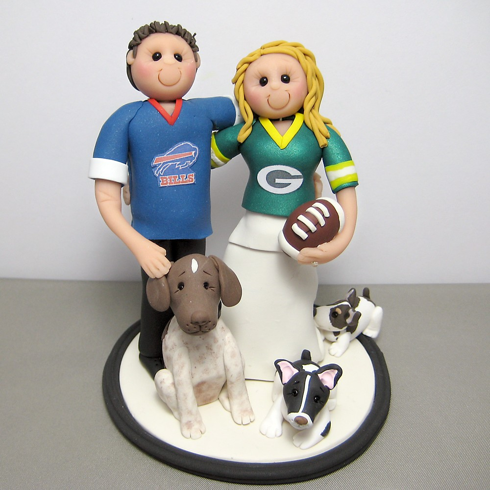 Green Bay Packers and Buffalo Bills wedding cake topper | Flickr