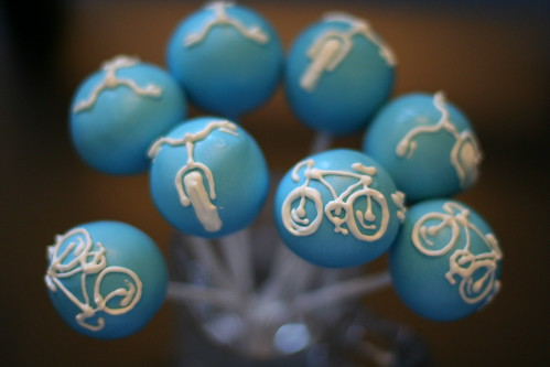 Bicylce Cake pops | by Sweet Lauren Cakes