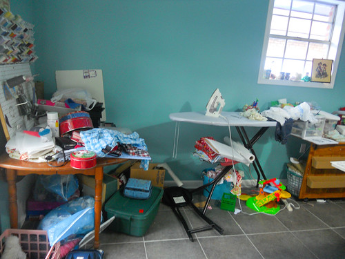 The sad state of my sewing/laundry room | by Tonya Richard