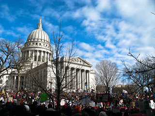 Madison Protests - Wisconsin 14 return | by eytonz
