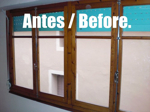 Ventanas de alumino en color madera ventanas abatibles for Cristaleria benissa