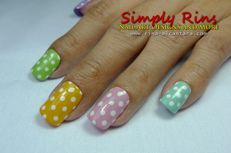 Nail Art Polka Dots For Beginners 02 | Rina Alcantara | Flickr