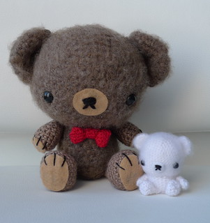 Amigurumi Valentine Teddy Bear Part Two : Valentine Teddy My two brushed amigurumi teddy bears My ...