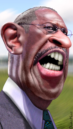 Herman Cain - Caricature | by DonkeyHotey