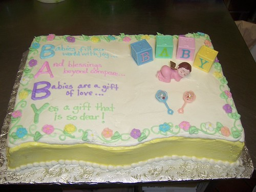 Baby Shower Poem Cake | by sarapweav