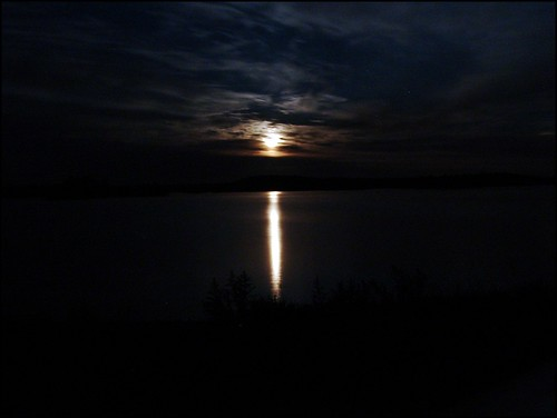 Moon over the Lake | by sotagoat