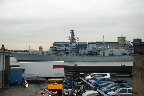 2 Things that sail past my studio window Feb 23rd 2011 HMS Westminster | by Rod Hunt Illustration