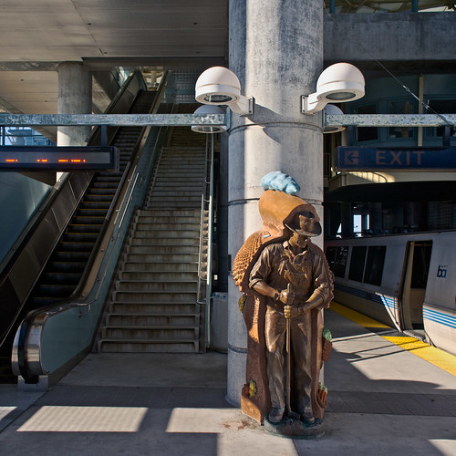BART Millbrae station (February 2011) | by Alexis Gerard - Just back and way behind