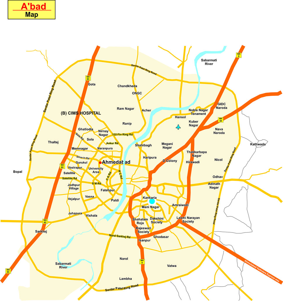 Ahmedabad map made in corel by Deepak Rathod Ahmedabad Map Flickr