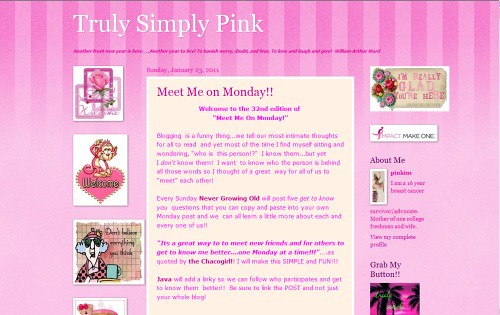 Truly Simply Pink | by Blogging Women