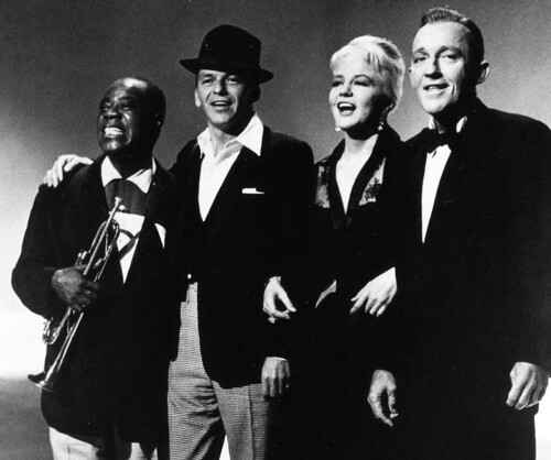 Louis Armstrong, Bing Crosby, Peggy Lee and Frank Sinatra | by classic film scans