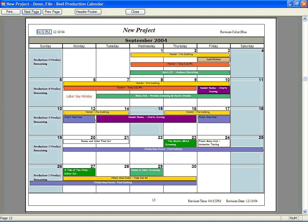 production schedule example by pamelart production schedule example by pamelart