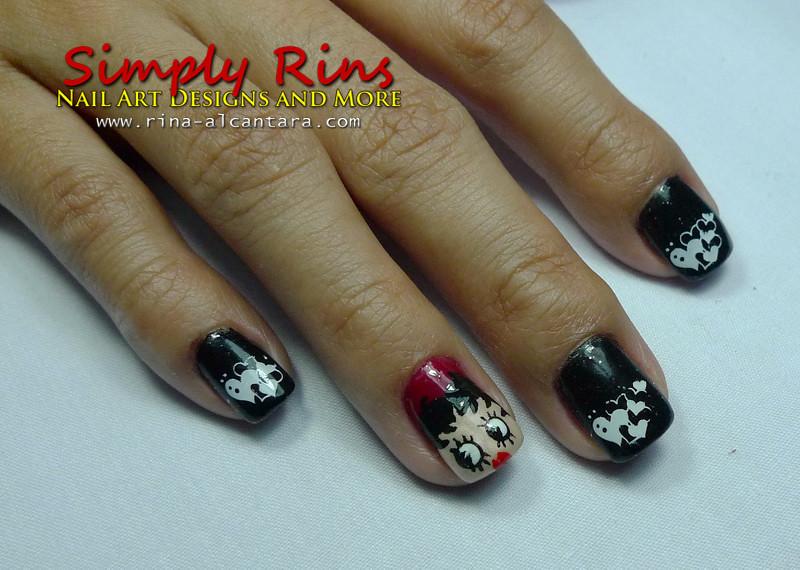Valentines Nail Art Betty Boop 03 Rina Alcantara Flickr
