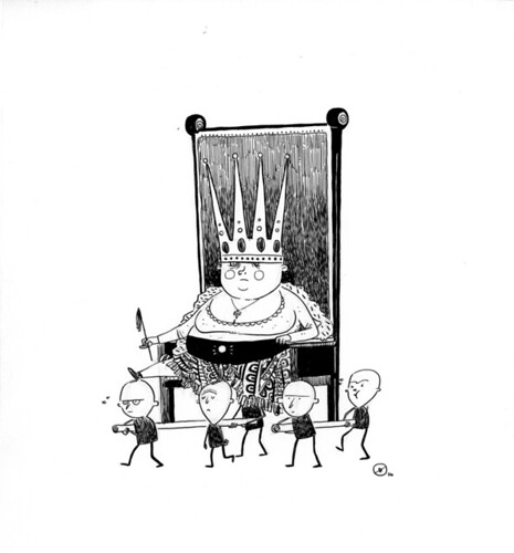 ONE HOUR DRAWING :: It's Pretty Fat Being The Queen | by Dustin Harbin
