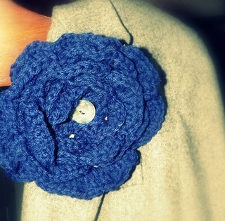 Large Crochet Flower Pin | by mbrigid
