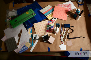 My messy craft area | by heylovedesigns