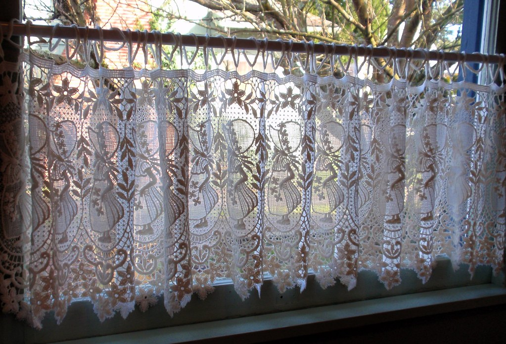 Dutch Lace Curtains In Dining Room Window