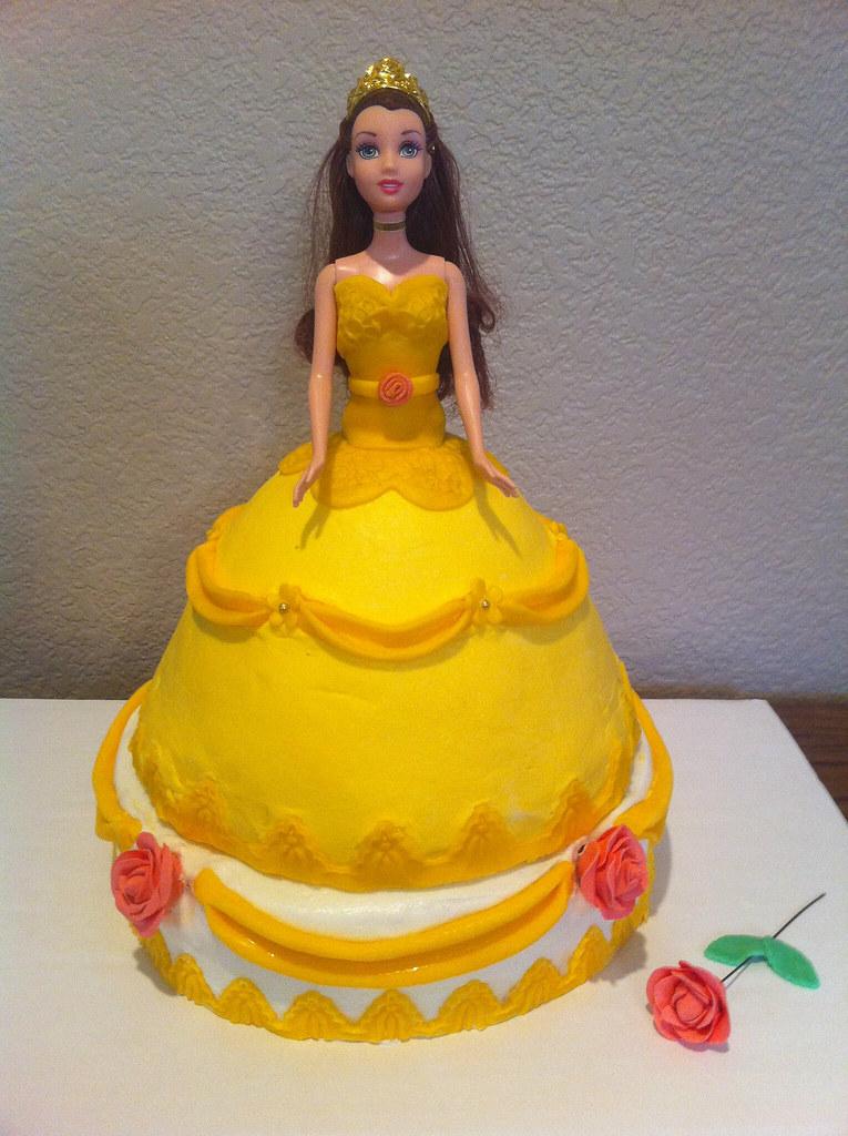 Belle Beauty Beast Doll Cake Christina Zielinski Flickr