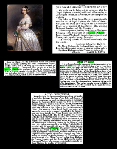 May 24th 1819 - Queen Victoria born | by Bradford Timeline