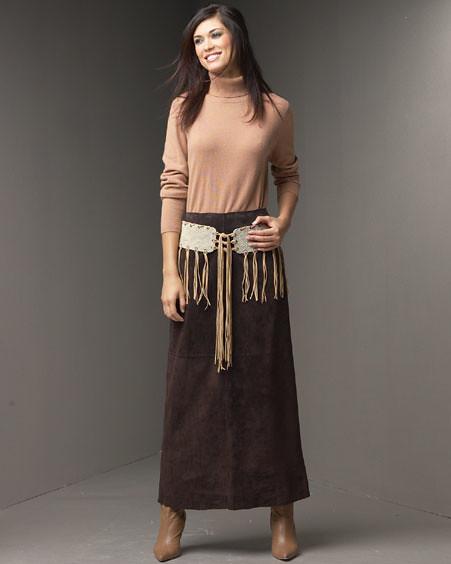 Long suede skirt and belt   Vic Torre   Flickr