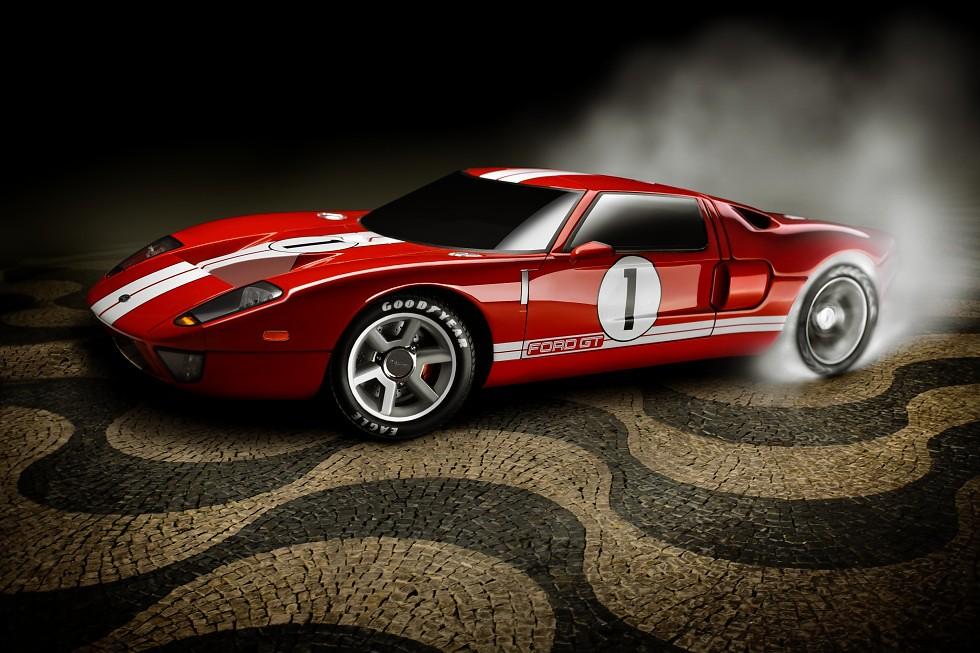 Ford Gt Burnout By Tome Rodrigo