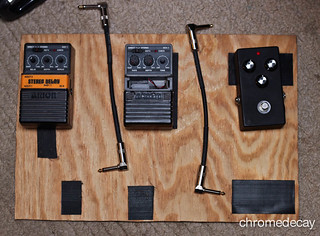 pedalboard before repairs/positioning | by chromedecay