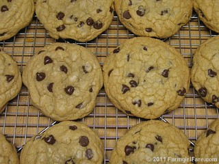 Nigella's Big Chocolate Chip Cookies baked at two different temperatures | by Farmgirl Susan