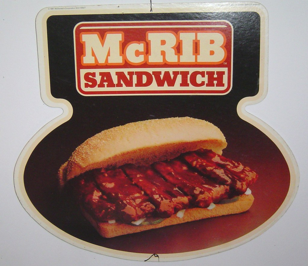 Image result for mcrib 1981 menu