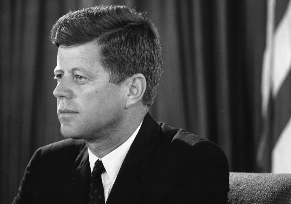 President john f kennedy by u s embassy new delhi
