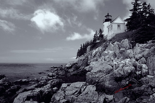 Bass Harbor Head Light - B&W | by John H Bowman