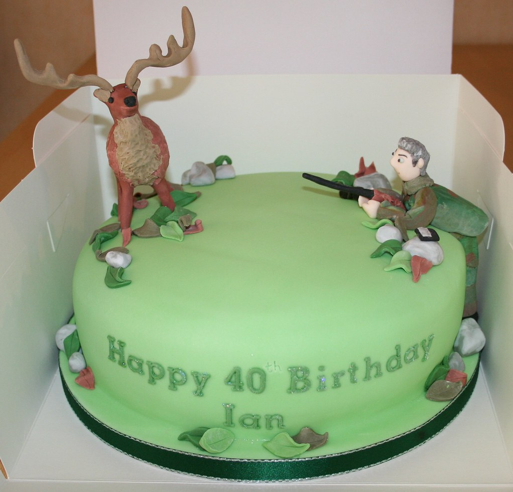Deer Hunter Birthday Cake Janet Whitehead Flickr