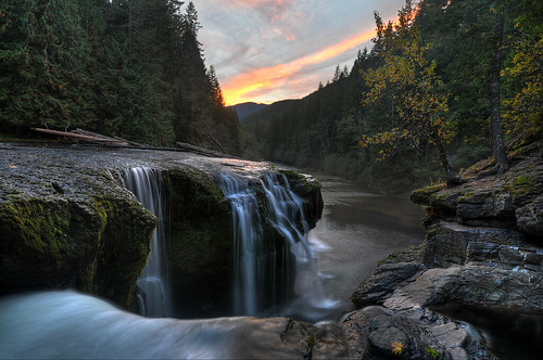 Lower Lewis River Falls Sunset HDR | by David M Hogan