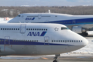 Two ANA's B747-400D @RJCC | by double-h