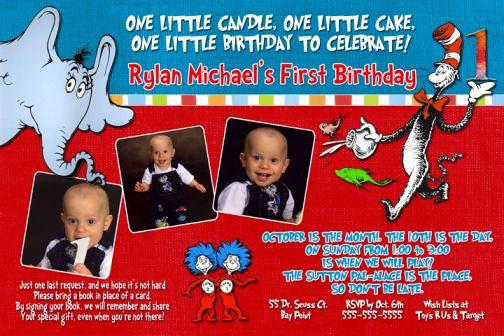 dr seuss birthday invitations  flickr, Birthday invitations