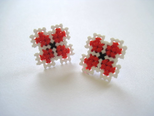 Red Folk Earrings | by Pin Pals